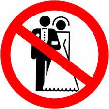 Förbudsskylt mot gifta par