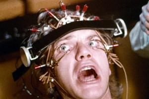 Scenen där Alex hjärntvättas i Clockwork Orange