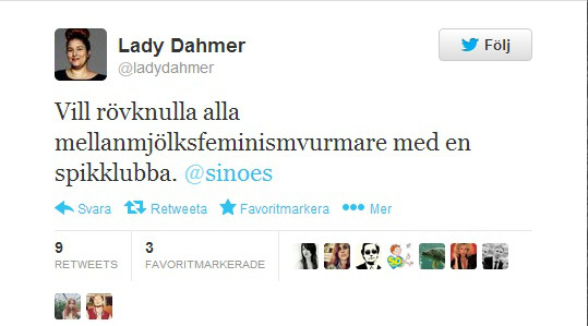 Lady Damer om spikklubbor