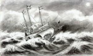 Ibland seglar den gemensamma skutan på lugnaste hav, ibland river storm i seglen och det känns som man ska gå i kvav, men målet – harmonins land – är värd att kämpa för. [bildkälla ]