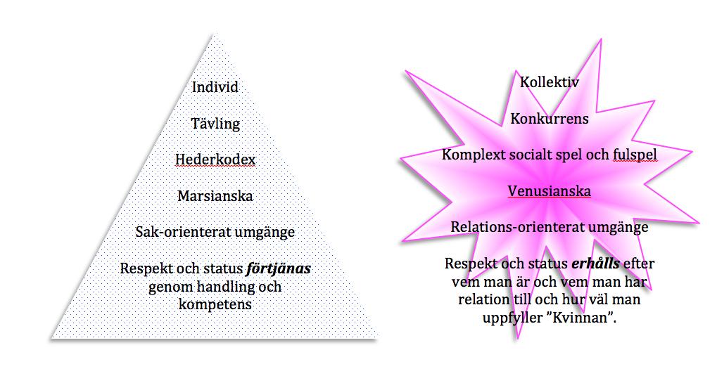 Manlig och kvinnlig homosocial gemenskap - Två olika kulturer.