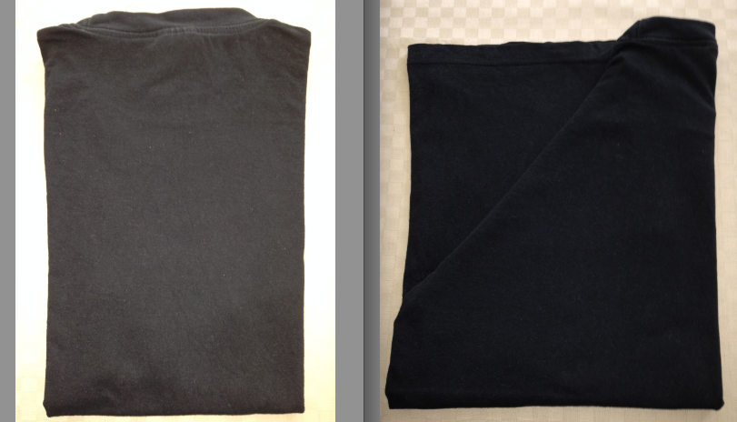Vilken av tröjorna är vikt på på Det objektivt rätta sättet?