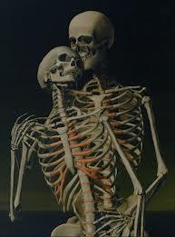 Ett kärlekspar av två skelett