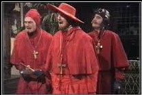 Spanska inkvisitionen, modell Monty Python