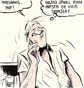 bild av den tecknade hårdporrhjälten James Fjong
