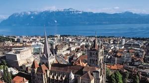 Översiktsbild av Lausanne