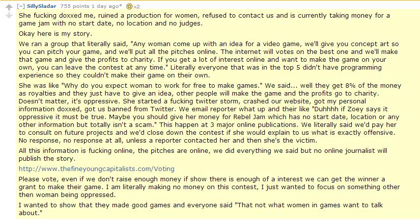 Kvinnlig feministisk spelutvecklare saboterade tävling för kvinnliga spelutvecklare