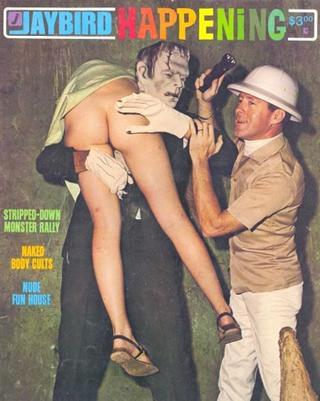 Frankensteins monster bär kvinna
