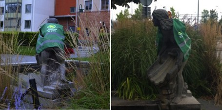 MP klär statyer