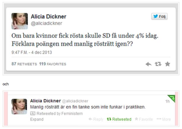 Alicia Dickner på Twitter