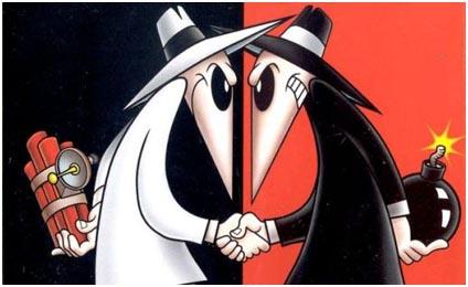 X & Y, eller Spy vs. Spy som det heter i det engelska originalet.