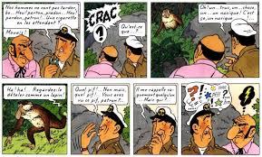 några serierutor från Tintin – Plan 714 till Sydney