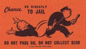 Monopol-kort: Gå i fängelse