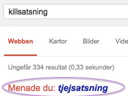 google tror jag stavat fel?