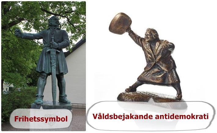 kärring med hanväska staty vs frihetssymbol