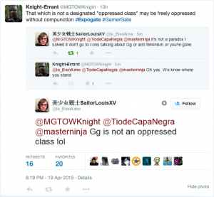 """Not an oppressed class"""