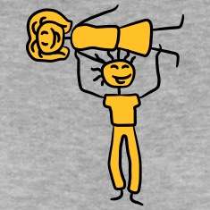 Stark-man-om-en-kvinna-som-baer-par-T-shirts