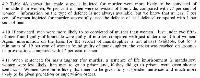 Mord, olika påföljder