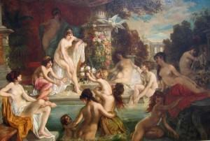 Hans-Zatzka-The-Harem-Nymphs-Bathing