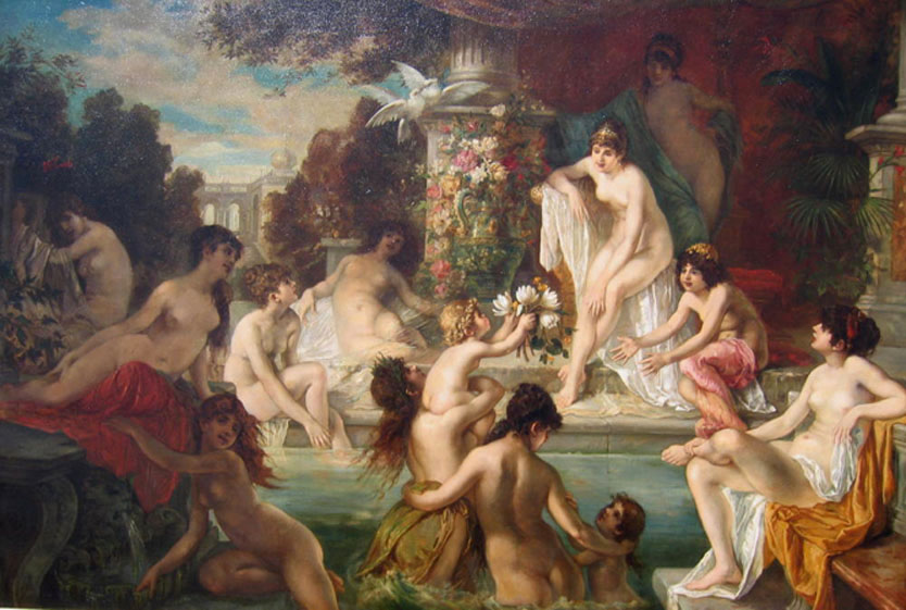 Hans-Zatzka-The-Harem-Nymphs-Bathing
