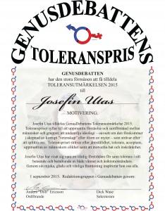 toleranspris Utas