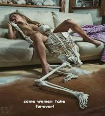 Skeleton cunilingus