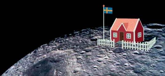 hus på månen