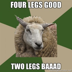 Four legs good