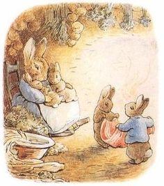 fröken kanin med ungar